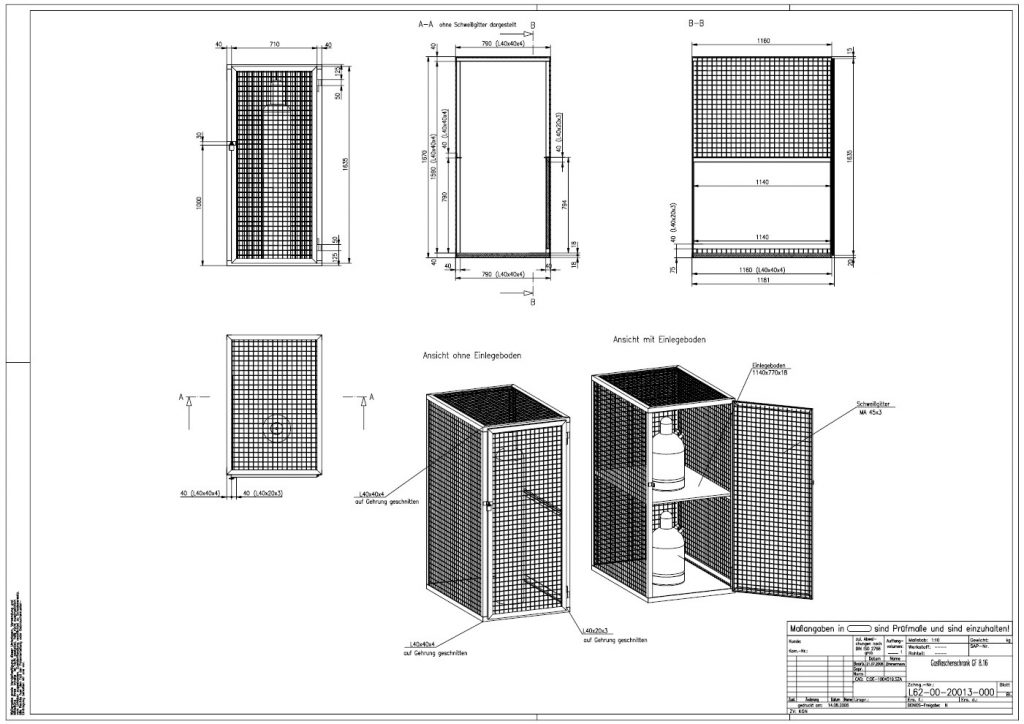 Detailskizze Lagerbox-Schrank