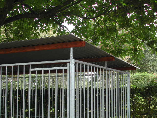 Rohrstabzwinger Dachkonstruktion