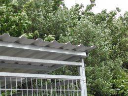 Lagerbox Ecke mit Dachstuetze